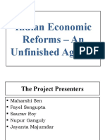 Indian Economic Reforms - An Unfinished Agenda