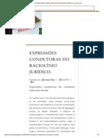 Expressões Condutoras Do Raciocínio Jurídico. _ Lunnachat