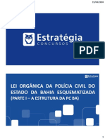 Lei Orgânica PC BA Esquematizada I