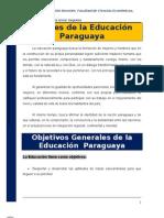 Fines y Objetivos de La Educ. Paraguaya