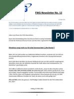 FWG Oelde - Newsletter Nummer 12 - März 2011