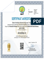 Sertifikat Akreditasi Prodi MP Politeknik AUP .TAHUN 2020-2025