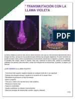 Limpieza y Transmutación Con La Llama Violeta