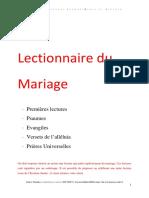 lectionnaire de Mariage