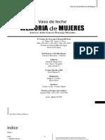 Vaso de  Leche  Memoria de Mujeres. 1984 – 2001