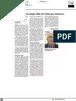 Pencarelli e le cinque sfide di Urbino per rinascere - Il Corriere Adriatico dell'11 luglio 2021
