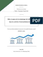 Role Et Enjeux de La Technologie de La B