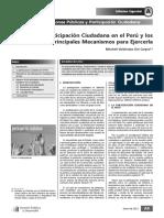 Lectura_La Participación Ciudadana en El Perú y Los Principales Mecanismos Para Ejercerla