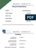 Deutschunterricht GS1-A1