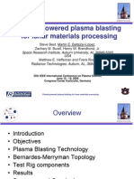 Pulsed Powered Plasma Blasting for Lunar Materials Processing