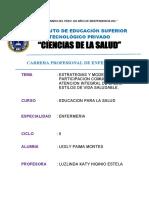 ESTRATEGIAS Y MODELOS DE PARTICIPACION COMUNITARIA