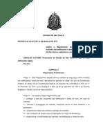 Decreto Estadual 56819 de 10MAR2011 - Regulamento de Segurança