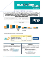 MKT Data Perfil Del Usuario de Redes Sociales 2010