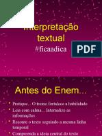 Interpretação textual Dicas