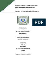 Universidad Nacional de San Martín Trabajo de Taller Agroisdustrial 02