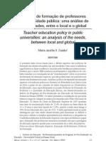 ZAINKO, M. A. S. Políticas de formação de professores na universidade pública ...