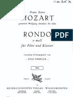 F. X. Mozart - Rondo u e-molu