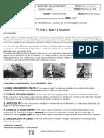 (CLEI 4 ) LA PRIMERA GUERRA MUNDIAL - CIENCIAS SOCIALES