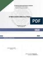 Programa de Estudio (2018) Etimologias Grecolatinas I
