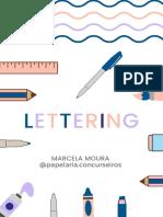 Apostila de Lettering Marcela