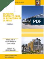 ASPECTOS FORMALES PARA REDACCIÓN DE TESIS_FACULTAD CIENCIAS DE LA EDUCACIÓN