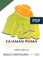 Adorno, Rolena - Guaman Poma, Literatura de Resistencia en El Perú Colonial