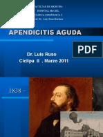 Apendicitis Aguda. Teorico.ciclipa 2. Marzo 2011.