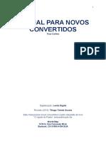 Manual para novos convertidos cajado do pastor novo