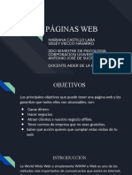 PÁGINAS WEB SISSEY VIECCO Y MARIANA CASTILLO