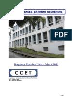 Rapport du BET sur l'état des lieux de l'ancien bâtiment recherche Fouillole