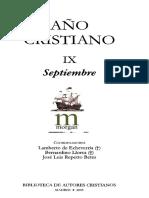 AÑO CRISTIANO 09 (SEPTIEMBRE) (BAC 2005) - Lamberto Echevería, Bertnardino Llorca, J. Luis Repetto Betes