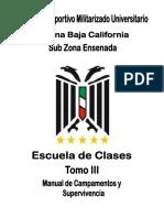 6 - Escuela de Clases - Tomo III - Manual de Campismo y Supervivencia