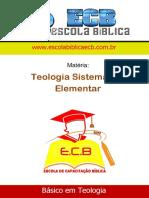 (1) Teologia Sistemática Elementar