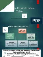 Cairan dan Elektrolit dalam Tubuh