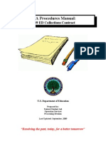 U.S. Department of Education Private Collection Agency Procedures Manual