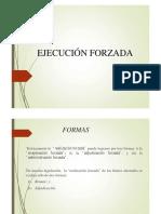 EJECUCIÓN FORZADA Y REMATE