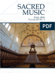Fall 2010 Issue of Sacred Music