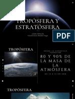 CLIMA ESPACIAL TROPOSFERA Y ESTRATOSFERA Graciela Eunice Bouchan Vargas