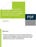 Business Process Analysis and Design – Importance of Having a Common Language Between Business and IT