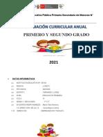 Programación Curricular María Tafur 2021