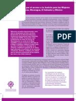 Campaña regional por el acceso a la Justicia para las Mujeres Guatemala, Honduras, Nicaragua, El Salvador y México