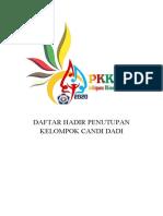 DAFTAR HADIR PENUTUPAN KELOMPOK PKKMB 2020
