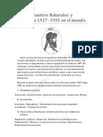 Lista II Desastres Naturales y Genocidios 1927- 1935 en El Mundo.