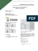 Informe laboratorio Kps (constante de equilibrio)