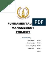 FUNDAMENTALS OF MANAGEMENT PROJECT
