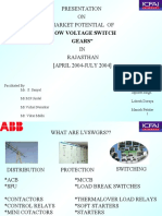 low voltage switchgear presentation