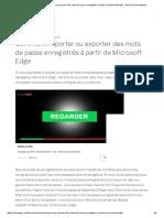 Comment Importer Ou Exporter Des Mots de Passe Enregistrés à Partir de Microsoft Edge - Astuces Informatiques