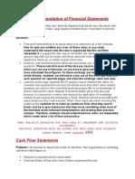Ratios and Interpretation of Financial Statements