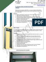De-Securite Metal Detectors Premium Brochure
