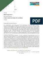 06.1  Aceptación de CIVISOL a la invitación de la Corte Constitucional a hacer seguimiento a la implementación del fallo T-291-09